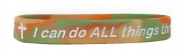 Renew Your Mind PHILIPPIANS 4:13 I CAN DO ALL THINGS! Silicone Wristband