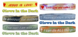 Christian Faith Building Reminder Premium Silicone Wristbands