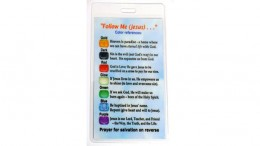 Salvation Key Rings / Zipper Pulls Laminated Message Cards