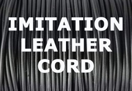 225 ft. - 2mm Imitation Black Leather Cord