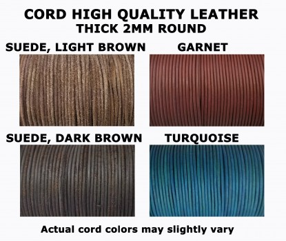 100 meters (328 ft.) - 2mm Genuine Leather Cord