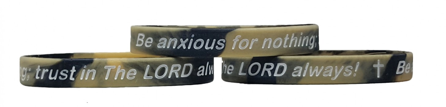 Renew Your Mind PHILIPPIANS 4:6 BE ANXIOUS FOR NOTHING Silicone Wrisbands
