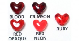 Red Heart Pony Beads Vertical Hole