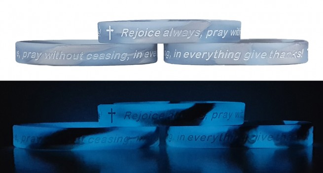 Renew Your Mind 1 THESS. 5:16-18 REJOICE ALWAYS Silicone Wristbands