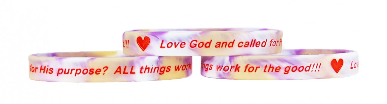 Renew Your Mind ROMANS 8:28 LOVE GOD? Silicone Wristbands