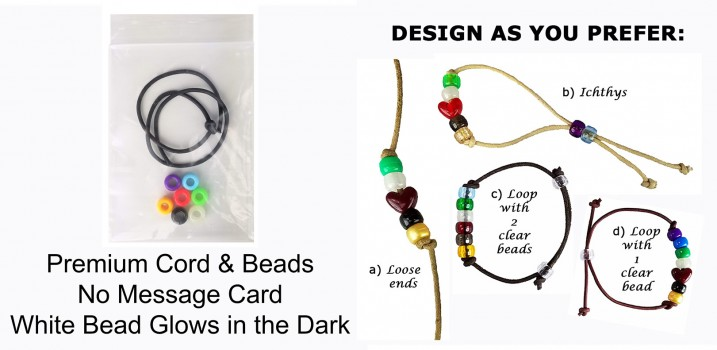 Shine in the Dark Salvation Bracelet Craft Kits for Evangelism