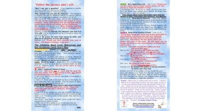 Salvation Bracelet Gospel Scripture Cards show Bead Color Meanings